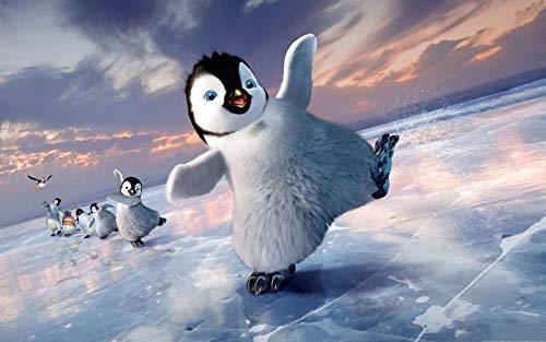 LYWUSUZE Puzzle 1500 Teile Erwachsene Holzpuzzle Für Tanzende Pinguine Auf Dem EIS Kinder Pädagogisches Spielzeug Moderne Zuhause Dekoration Einzigartiges Geschenk