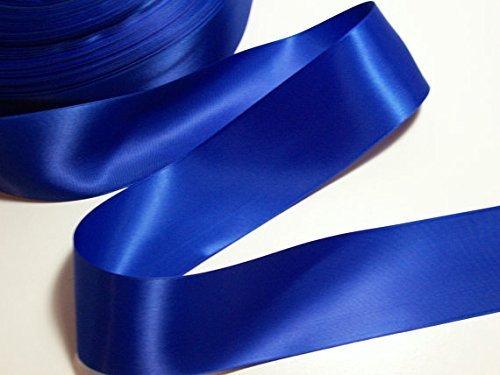 Ruban en satin double face idéal pour papiers cadeaux ou fleurs Bleu roi 25 mm x 5 m