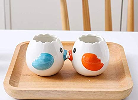 UgyDuky 2 PCS Egg Separator Cute Chicken Shape Creative Egg Yolk Separator Kitchen Gadgets Baking Utensils Blue