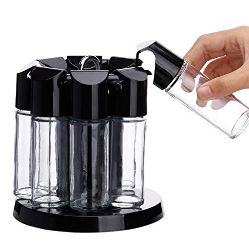Creatieve Keuken Benodigdheden, Verzegeld Draaiende Kruidenrek, Glas Spice Fles Pot Spice Fles Set.