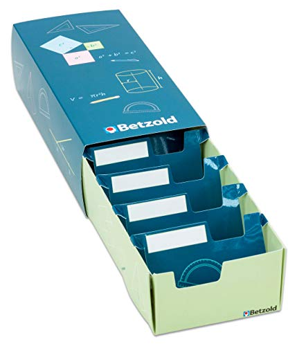 Betzold Lernkartei-Box - Karteikarten-Box für bis zu 500 Lernkarteikarten DIN A8 - Lern-Karteikasten