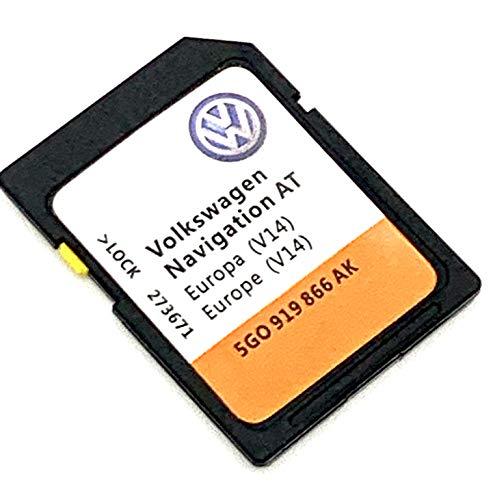 Neueste SD Karte 2020/2021 für Volkswagen Navigation AT Discover Media V14 SD Karte Update 2020/2021 Cover alle Europa, Teilenummer 5GO 919 866 AK