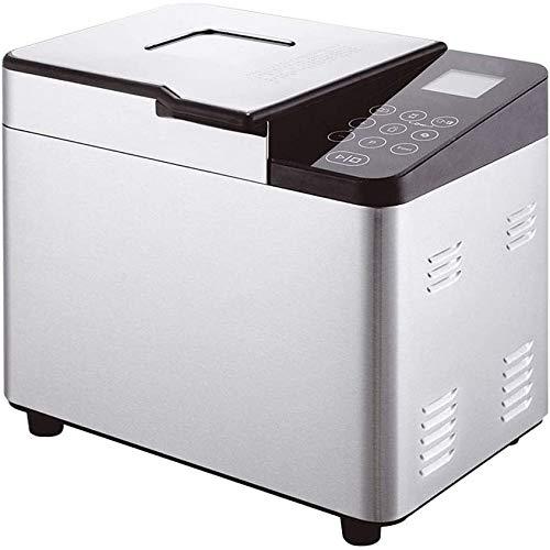 Compacte automatische broodmachine 550 W, 21 automatische programma's Roestvrijstalen broodmachine, 1 kg capaciteit, glutenvrij, LCD-scherm