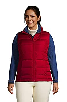 Lands  End Womens Puffer Down Vest Rich Red Regular X-Large