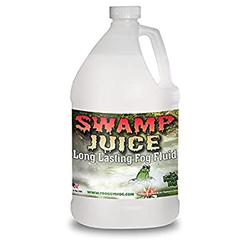 Froggys Fog - Swamp Juice - Ridiculously Long Lasting Fog Fluid - 2-3 Hour Hand Time - 1 Gallon - For Professional and Home Haunters Theatrical Effects DJs