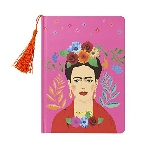 Talking Tables Bohemain Décor Office Supplies School Diary Tuition Boho Frida Khalo Notebook, A5, Pink