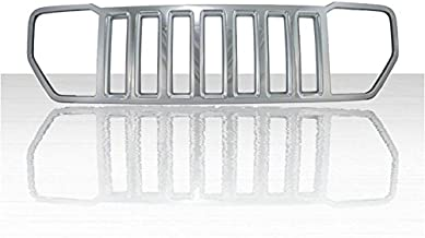 Auto Reflections 1pc Chrome ABS Grille Overlay for 2008-2013 Jeep Liberty Sport