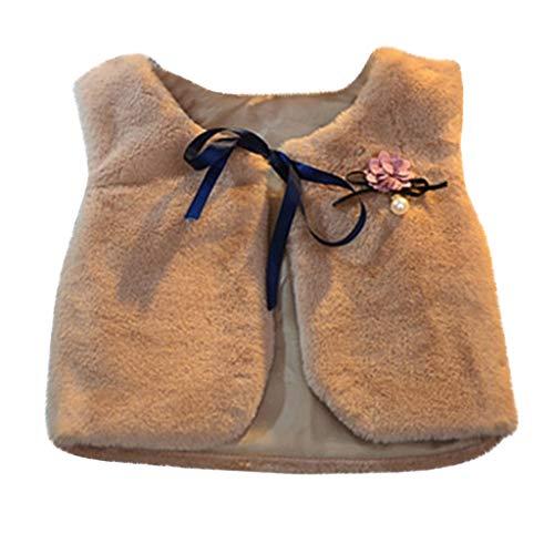 Kleine Meisjes Casual Jas Kinderen Lente Bont Vest Warm Jassen voor Meisjes en Jongens Ceremonie Elegante Cltohes Lange Mouw Gift 2-9Jaar