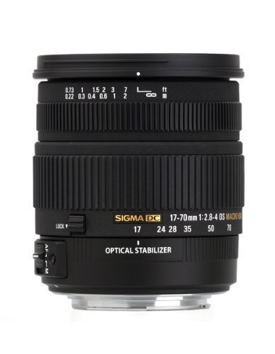 Sigma 17–70mm f/2.8–4DC Macro OS HSM objetivo para Canon cámaras réflex digitales de soporte (modelo internacional) no garantía