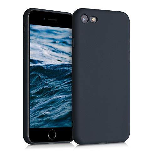 kwmobile TPU silikonfodral kompatibel med Apple iPhone 7/8/SE (2020) – mjukt flexibelt skyddande telefonfodral – blåbär