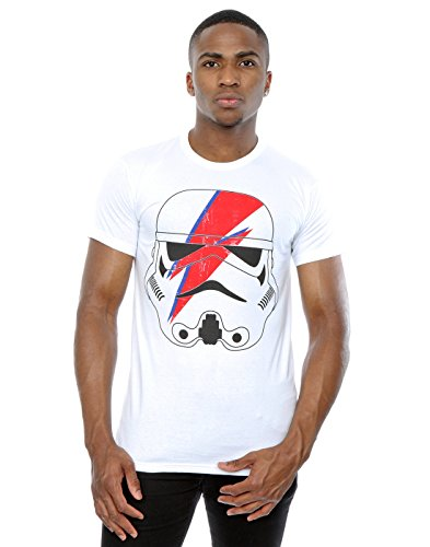 Star Wars hombre Stormtrooper Glam Lightning Bolt Camiseta