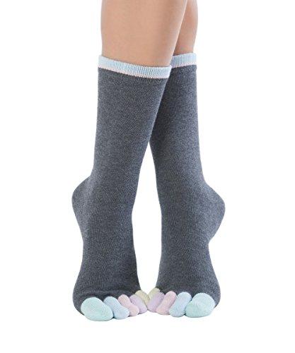Knitido Rainbows   Calcetines de dedos multicolores para hombre y mujer en algodón 95%, Color:Cotton Candy (210), Talla:35-38