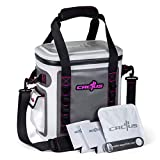 CACTUS Mojave 23 Party Kit - Insulated Soft Cooler/Non-Permeable/Long Lasting Cold Tech + Free Bonus Items: Soft Cold Pack, Neo Drink Holders, Stainless Opener w/Magnetic Front Panel (Cosmo Pink)