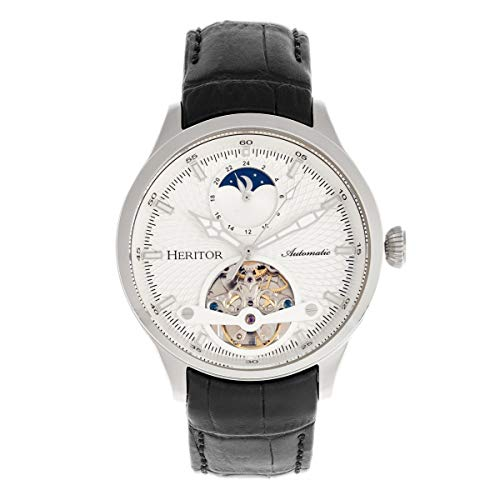 Heritor Gregory Automatic Silver Semi Skeleton Dial Men's Watch HERHR8101