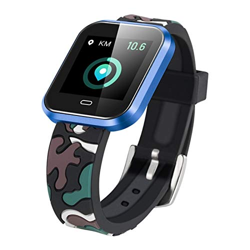 Orologio Sportivo Smartwatch Braccialetto Impermeabile Cardiofrequenzimetro blu