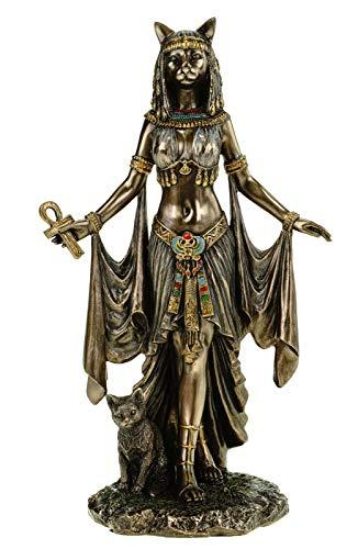 Veronese Figur ägyptische Göttin Bastet 26 cm Ägypten Pharao bronziert