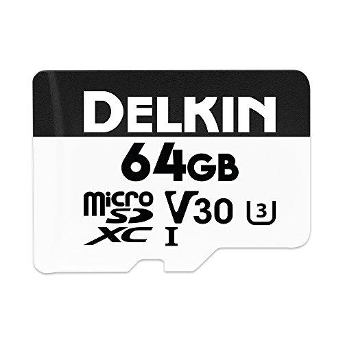 Delkin Devices 64GB ddmsdw66064g, microSDXC uhs-i U3/V30Speicherkarte