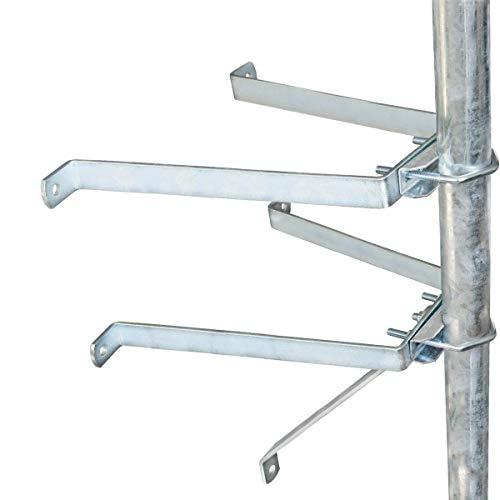 PremiumX Sat-Mauerhalter Wandabstandshalter Wandabstand 50cm für Mast bis Ø 60mm aus verzinktem Stahl