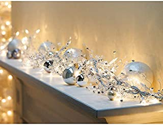Cyber Monday Deal: 100 GE ConstantON® Incandescent Clear Bright Lights Glitter Gem Garland for Holiday, Party, Christmas - 9ft.