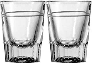 2 oz Heavy Shot Glass with Line (Pack of 2)