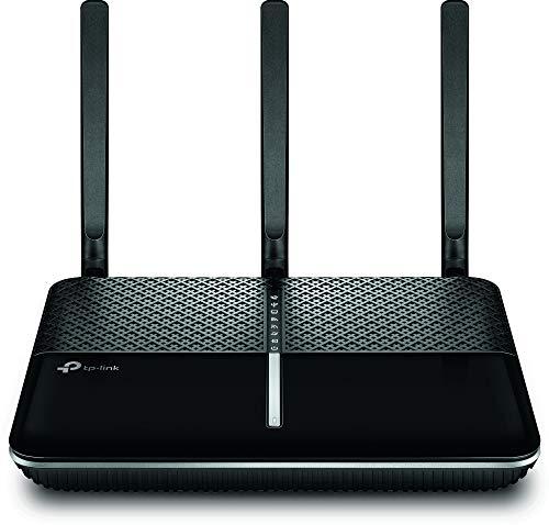 TP-Link Archer VR900v AC1900 WLAN Telefonie VDSL DSL Modem Router (1300 Mbit/s 5GHz, 600 Mbit/s 2,4GHz, komp. mit Telekom/1&1/Vodafone/O2, DECT Basis und Mediaserver, nur für Deutschland)schwarz