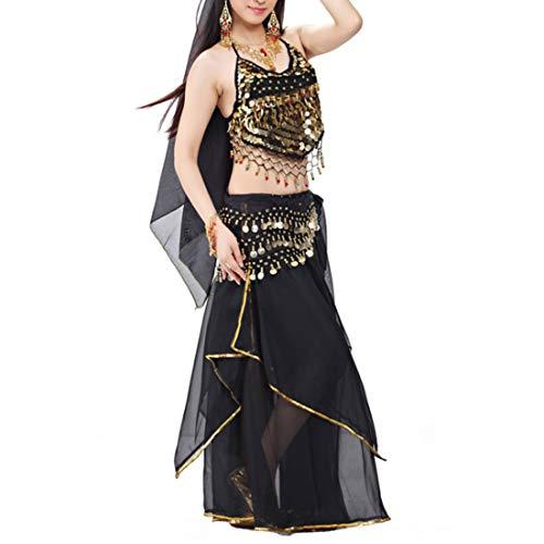 IOSHAPO Frauen 5er Set Damen Professionelle Bauchtanz Kostüm Indisch Arabisch Tanzen Performance Outfits Anzug
