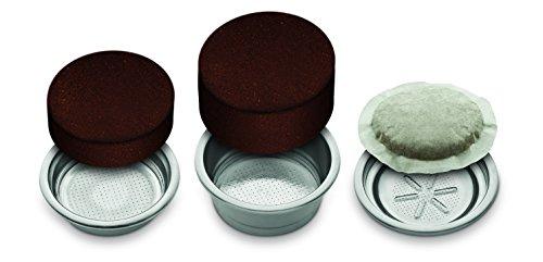Breville VCF046X PrimaLatte 3 in 1 Kaffeemaschine | Espressomaschine | Kaffeepadmaschine | 15 Bar | für verschiedene Milchtypen geeignet, Rot/Metallic