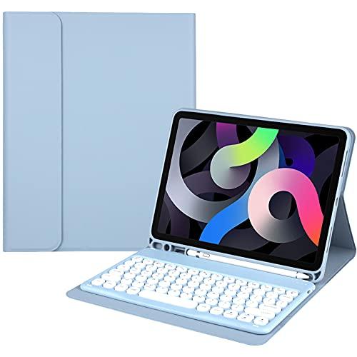 Funda con teclado para iPad Pro 11 pulgadas 3.a generación 2021, 2.a generación 2020, 1.a generación 2018 con portalápices y teclado inalámbrico BT - Funda para teclado iPad Pro 11 para tableta