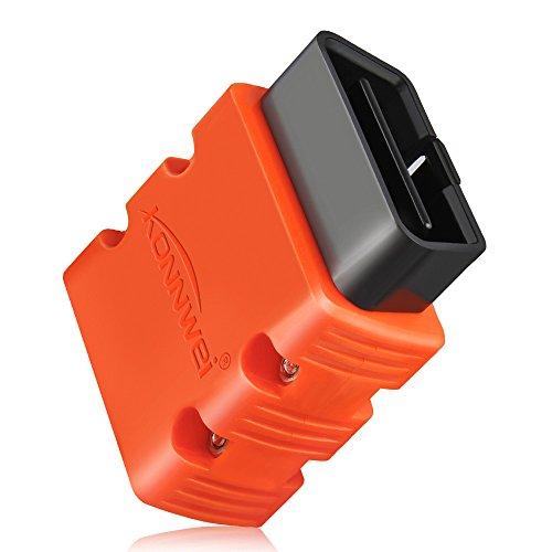 KONNWEI KW902 OBDII Diagnosegerät Android Bluetooth Auto Diagnostic Scan Werkzeug ELM327 OBD2 V1.5 Autoscanner Codeleser Unterstützung für Alle OBD2-Protokolle (Orange)