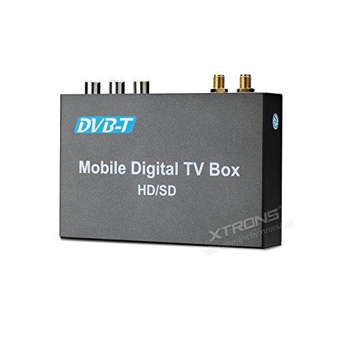 XTRONS HD/SD-Doppelantenne Auto DVB-T Receiver Box Dual Antenna Car DVB-T Freeview Digital TV Receiver Box mit HDMI Port 2 Antennen