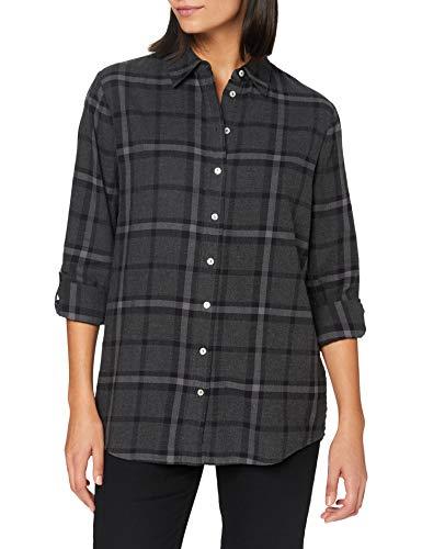 OPUS Damen Fabina Classic Check Hemd, Slate Grey Melange, 40