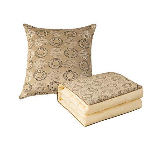 Car Cushion Cotton Pillow Dual-Use Car Cushion Pillow Air Conditioning Quilt Cotton Car Folding@Concentric Circles: Cotton Models_40*40CM/110 * 150CM