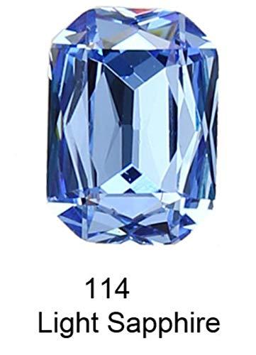 K9 Cristal Rectangle Octagon strass Strass pour vêtements nail art Strass couture Pointback Verre Bling Fantaisie cristal, 114,13 18mm 6pcs