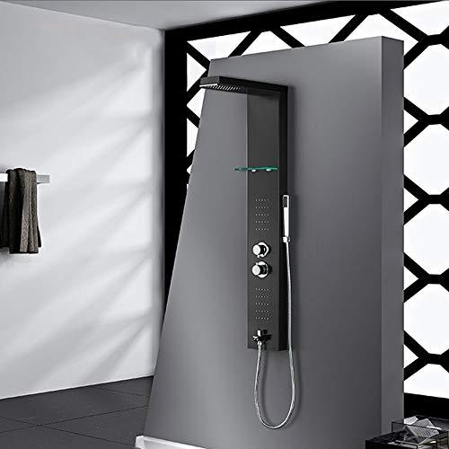 Best Bargain Mihaojianbing Shower Set-304 Stainless Steel Intelligent Thermostatic Shower Screen Sho...