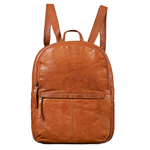 STILORD 'Conner' Zainetto pelle uomo donna Zaino vintage porta pc portatile 13,3' in cuoio grande Borsa per l'università, Colore:ocra - marrone
