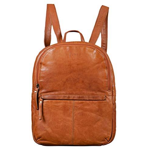 STILORD 'Conner' Zainetto pelle uomo donna Zaino vintage porta pc portatile 13,3' in cuoio grande Borsa per l'università, Colore:ocra - marrone