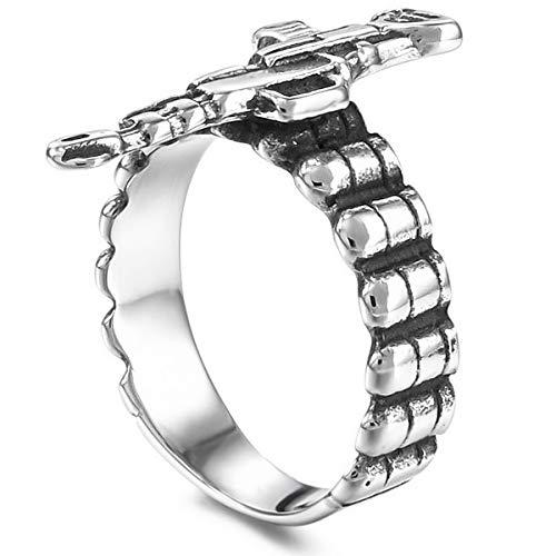 MunkiMix Acero Inoxidable Banda Venda Anillo Ring El Tono De Plata Talla Tamaño 27 Hombre
