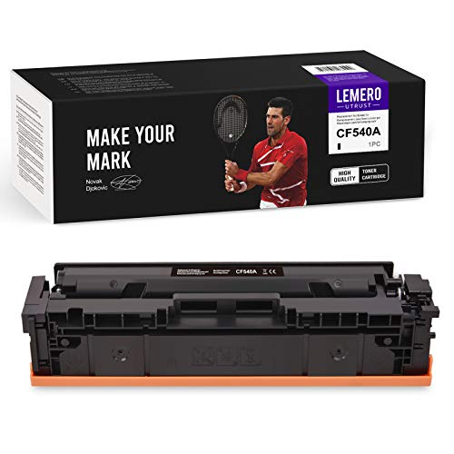 LEMEROUtrust 203A 1xNegro Cartuchos de tóner Compatible para HP 203A CF540A para HP Color Laserjet Pro M254 M254dw M254nw MFP M280 M280NW M281 M281CDW M281FDN M281FDW Impresora
