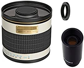 500mm f/6.3 Manual Focus Telephoto Mirror Lens + 2x Teleconverter = 1000mm For Nikon D3200, D3300, D5200, D5300, D5500, D7100, D7200, D610, D700, D750, D800, D810 Digital SLR Camera