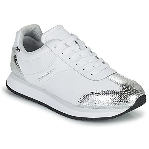 Calvin Klein Zapatillas de napa. Blanco Size: 37 EU