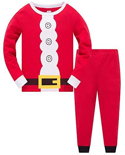 Christmas Pjs Kids Pyjamas Set for Boys Nightwear Cotton Toddler Clothes Girls Fun Santa Claus Sleepwear Unisex Long Sleeve 2 Piece Outfit 1-7 Years (Best Xmas Gifts) (Santa Claus, 1-2 Years)