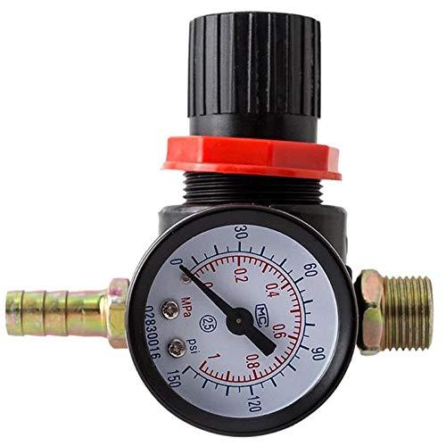 Tiamu Manómetro Reductor De Presión Regulador Manómetro Medidor De Presión Compresor De Agua Hidráulico Medidor De Probador Colocación De La Válvula Del Coche