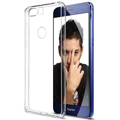 Tektide Case Compatible for Huawei Honor 8, [Invisible Armor] Crystal Clear, Ultra Slim, Soft Resilient,