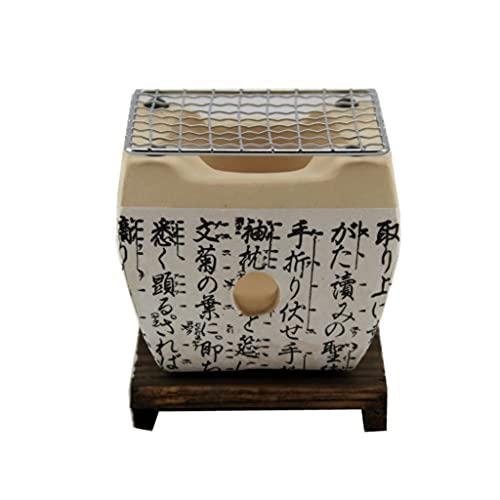 Parrilla Japonesa para Yakiniku, Parrilla de carbón de cerámica, Resistencia Duradera de Alta Temperatura, Buen Rendimiento de Aislamiento térmico, fácil de Limpiar