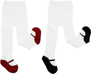 Comifun 1-3 Years Baby Girl Tights Toddler Shoe Look Cotton Dress Legging Pants
