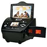 Digital Film & Photo Scanner, High Resolution 16MP Film Scanner with 2.4' LCD Screen, 4 in 1 Scanner Converts 35mm/135 Slides & Negatives Film, Photo, Name Card for Saving to Digital Files, Black