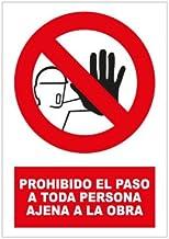 Amazon.es: cartel prohibido el paso