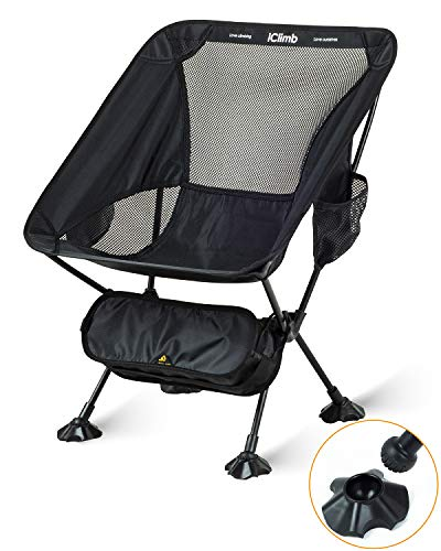iClimb アウトドア チェア コンパクト 折りたたみいす キャンプチェア キャンプ用 椅子 ローチェア キャン...