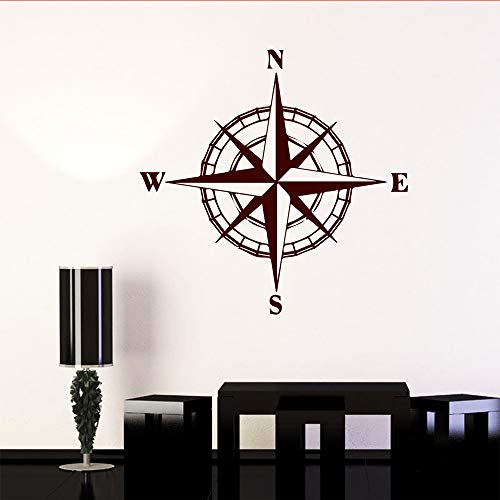 Yaonuli kompas sticker slaapkamer decoratie sticker voor auto decoratie wereldkaart kompas muursticker