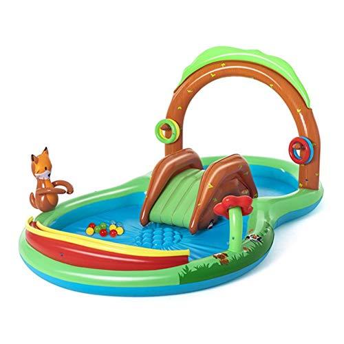 Riosupply Centro de juegos inflable para niños Vadeo Piscina Patio Centro de agua, Piscina inflable para niños Piscina para niños Piscina para niños de 3 años y más Diversión acuática al aire libre